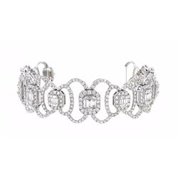 18KT White Gold 13.18ctw Diamond Bracelet