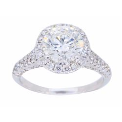 18KT White Gold 1.89ctw GIA Cert Diamond Ring