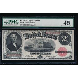 1917 $2 Legal Tender Note PMG 45