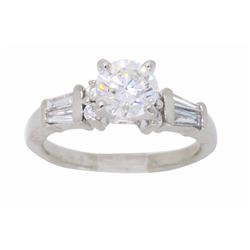 Platinum 1.10ctw Diamond Ring