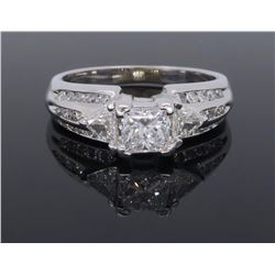 14KT White Gold 1.00ctw Diamond Ring