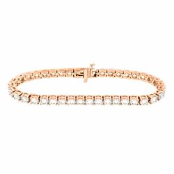 18KT Rose Gold 10.00ctw Diamond Tennis Bracelet