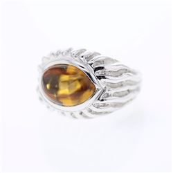14KT White Gold 7.45ct Citrine Ring