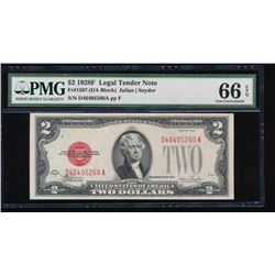 1928F $2 Legal Tender Note PMG 66EPQ