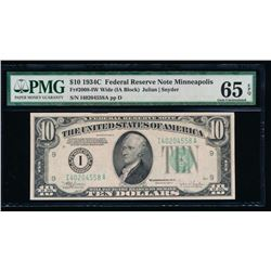 1934C $10 Minneapolis Federal Reserve Note 65EPQ