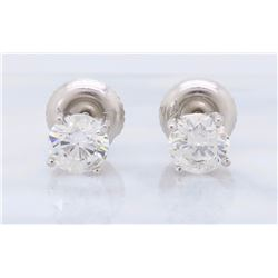 14KT White Gold 0.65ctw Diamond Stud Earrings
