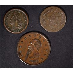3 CIVIL WAR TOKENS: ALL FROM NEW YORK