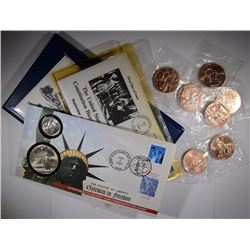COLLECTORS LOT SILVER DOLLARS AND BRONZE COINS