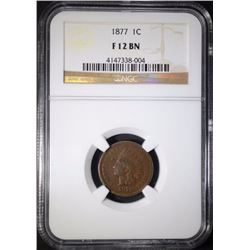 1877 INDIAN CENT NGC F-12 BN