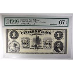 1860's $1 AMERICAN BANK NOTE PMG 67EPQ