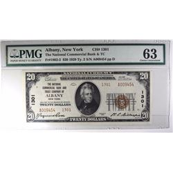 1929 $20 TY2 NATIONAL CURRENCY PMG 63