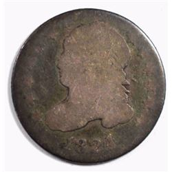 1824/2 CAPPED BUST DIME, AG/G RARE DATE