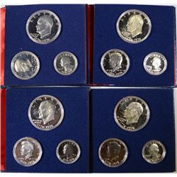 4 - 1976 3pc PROOF SILVER SETS