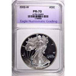 2002-W AMERICAN SILVER EAGLE ENG