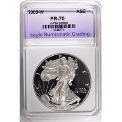 2003-W AMERICAN SILVER EAGLE ENG