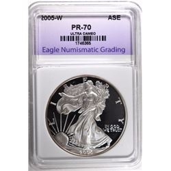 2005-W AMERICAN SILVER EAGLE ENG