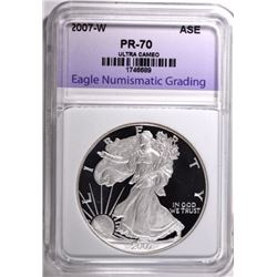 2007-W AMERICAN SILVER EAGLE ENG