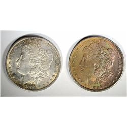 2 - CHOICE BU MORGAN DOLLARS; 1879-O & 1896