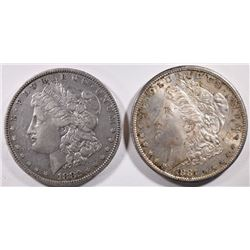 1881-S & 82-O CIRCULATED MORGAN DOLLARS