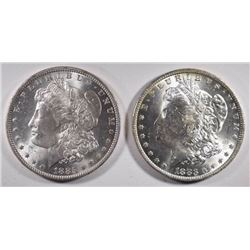 1883-O & 1885-O MORGAN DOLLARS CHOICE BU+