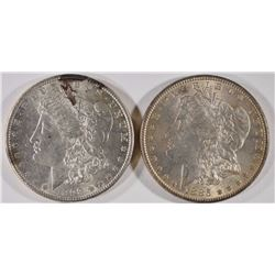 1885 & 1898 MORGAN DOLLARS AU/BU