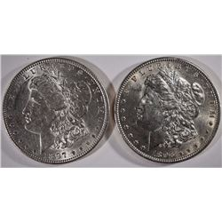 1896 & 1897 BU MORGAN DOLLARS