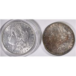 1900 & 1904-O MORGAN SILVER DOLLARS, AU