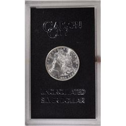 1882 CC MORGAN DOLLAR GSA WITH CARD GEM BU