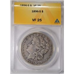 1896-S MORGAN DOLLAR ANACS VF-25