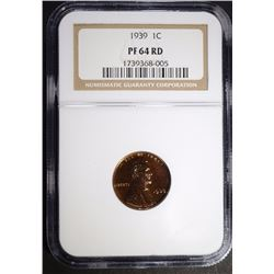 1939 LINCOLN CENT NGC PF-64 RD