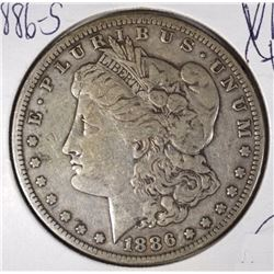 1886-S MORGAN DOLLAR XF  SEMI-KEY