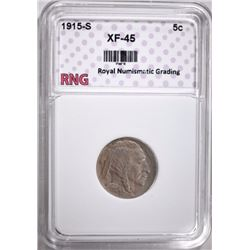 1915-S BUFFALO NICKEL RNG EF/AU