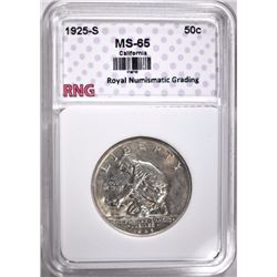 1925-S CALIFORNIA COMMEM HALF $ RNG GEM BU