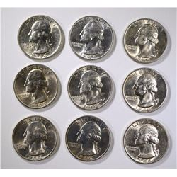 9 - 1944-S WASHINGTON SILVER QTRS