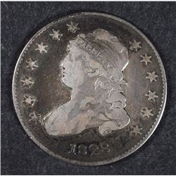 1828 BUST QUARTER, VF/XF -NICE COLOR