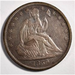 1859-O SEATED LIBERTY HALF DOLLAR, XF/AU