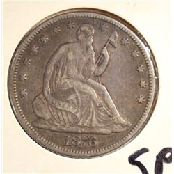 1876 SEATED HALF DOLLAR