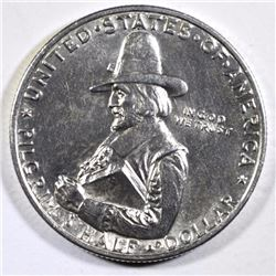 1920 PILGRIM COMMEMORATIVE HALF DOLLAR, CHOICE BU+