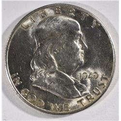 1949-S FRANKLIN HALF DOLLAR, CHOICE BU