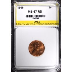 1958 LINCOLN CENT, LVCS SUPERB GEM BU RED