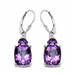 Sterling Silver Brazil Amethyst Earrings