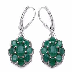 Sterling Silver Sakota Emerald Earrings