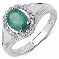Sterling Silver Zambian Emerald Ring