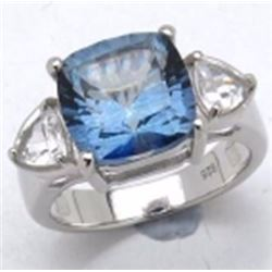 Sterling Silver Blue Mystic Quartz Ring