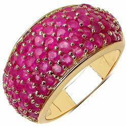 Sterling Silver Thai Ruby Dome Ring