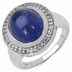 Sterling Silver Cabochon Tanzanite Ring