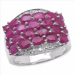 Sterling Silver Thai Ruby Ring