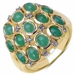 Sterling Silver Sakota Emerald Ring
