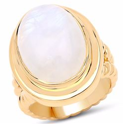 Sterling Silver White Rainbow Moonstone Ring