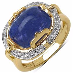 Sterling Silver Tanzanite Cabochon ring